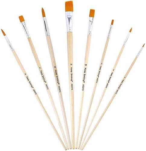 Kunstenaar Acryl Borstel8 stuks Schilderborstels KitVerf Borstels voor Acryl Aquarel Olie Gezicht Nagel Schaal Model Schilderij Lijn Tekening