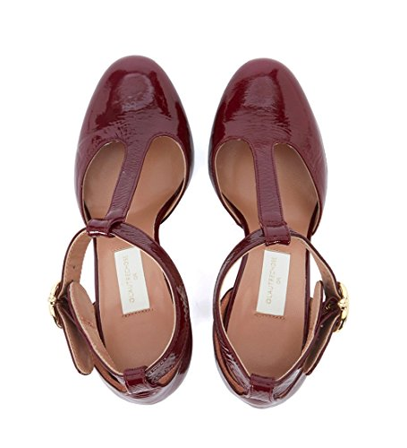 Lautre Chose Womens Bordeaux Patent Leather Décolléte Red