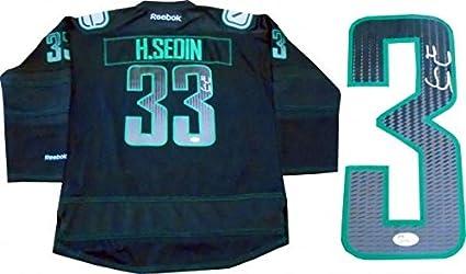 sale retailer a7f79 14087 Signed Henrik Sedin Jersey - JSA) - Autographed NHL Jerseys ...