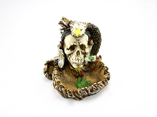 Skyway Jamaican Ashtray Skull and Eagle for sale  Delivered anywhere in USA