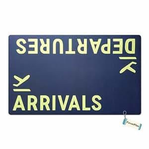 FavorPlus Departures Arrivals avión Funny entrada Felpudo personalizado Felpudo Máquina lavable alfombra antideslizante alfombrillas de baño decoración de la cocina alfombra de área (15,7x 23,6pulgadas
