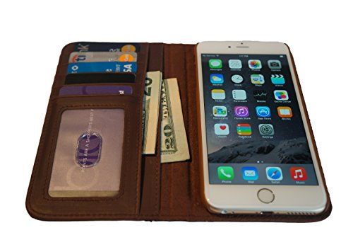 CHAPTER XVI THE BOOK for iPhone 6 Plus (5.5 inch) - Genuine Vintage Leather iPhone 6 Plus Case with Wallet (Vintage Brown) by CHAPTER XVI (Image #3)