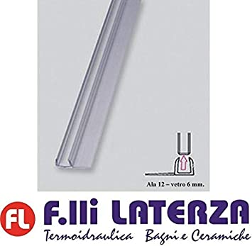 Junta para mampara de ducha con cristal antisalpicaduras de 6 mm. Perfiles transparentes.: Amazon.es: Bricolaje y herramientas
