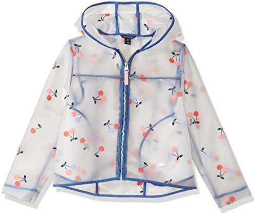 Jacket Cherry Girls - Tommy Hilfiger Girls' Little Cherry Printed Rain Jacket, White, 6