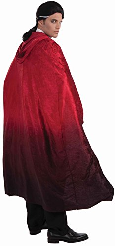 Forum Novelties Men's 56-Inch Long Red Fading Costume Cape, Red, One size