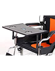 Wheelchair Lap Tray - Wheelchair Table Cup Holder for Eating,Reading & Playing Computer - Removable Plastic Wheelchair Table Desk