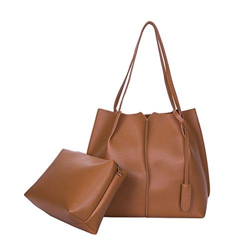 y Mujer de Bolsos hombro Carteras clutches bandolera y Marrón de Shoppers bolsos mano FTw5q