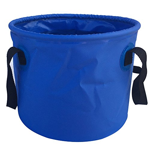 Jeater Lightweight & Durable Collapsible Bucket Portable Folding Water Container for Fishing Washing Gardening Hiking Travelling 20L JT3011-Blue