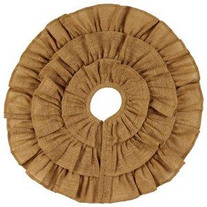 (Burlap Triple Ruffle Tree Skirt (24