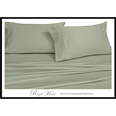 Royal Hotel S 8pc Full Size Bed In A Bag Solid Sage 300 Thread Count Down Comforter 100 Percent Cotton 100 Cotton Includes Sheets And Duvet Cover Sets