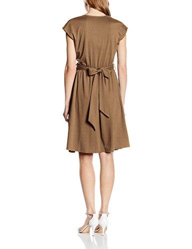 Flare Donna Vestito Fit Capped n Squash Sleeve Marrone Hot w6x0aq1XYn