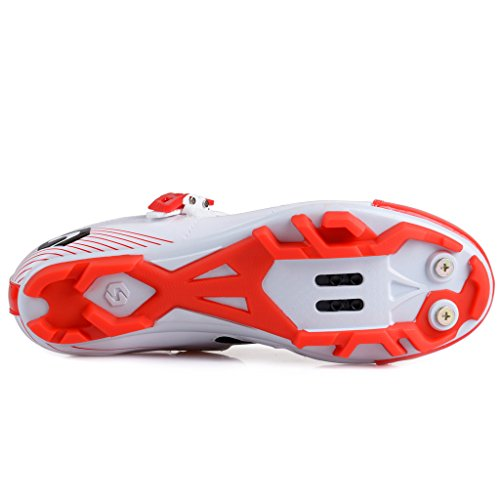Sidebike Mtb Zapatillas De Ciclismo Para Hombre Profesional Mountain Bike Shoe Sd002-white Red