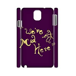 DIY Hard Plastic Case Cover for Samsung galaxy note 3 N9000 3D Phone Case - We Are Mad Here HX-MI-050009
