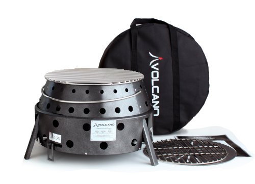 Volcano Grills 20-200 2 Fuel Charcoal & Wood Collapsible Stove Volcano 2 Grill, Charcoal