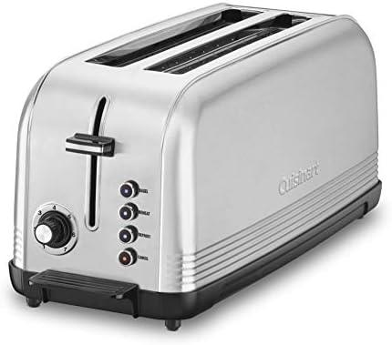 Cuisinart CPT-2500 Long Slot Toaster, Silver, 2-slice lengthy slot