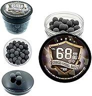 100 x Premium Hard Mix Rubber Steel Balls Paintballs Reballs 68 Cal. HDS SG T4E RAM for Shooting Training Home