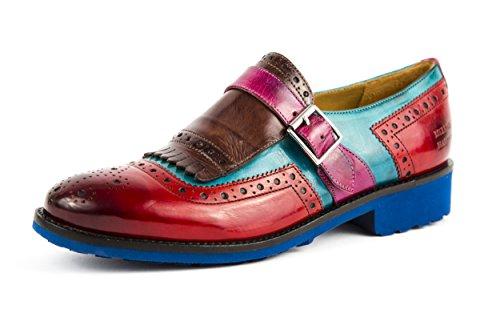 MELVIN & HAMILTON Damen Amelie 42 Halbschuhe Slipper Loafer Rot Blau Gr. 37 - 38