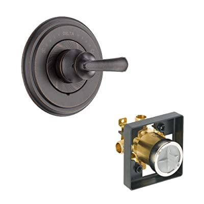 Delta Delta KVODCA-T14097-H798-RB Cassidy Valve Only Kit Pressure-Balance Single-Function Cartridge with Metal Scroll Handle, Venetian Bronze Venetian Bronze