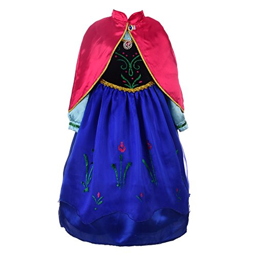 Dressy Daisy Girls Frozen Princess Anna Costumes Anna Dress Halloween Fancy Dress Up Size -