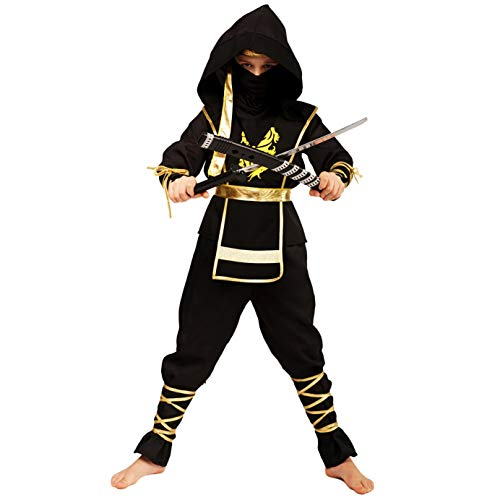 (Boys Golden Dragon Ninja Assassin Costumes)
