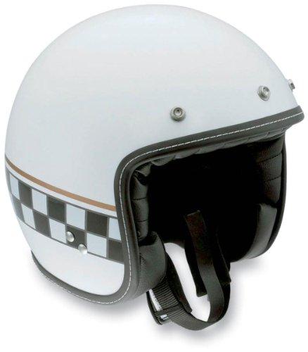 AGV RP60 Cafe Racer Helmet , Size: Lg, Primary Color: White, Helmet Category: Street, Distinct Name: Multi White Cafe Racer, Gender: Mens/Unisex, Helmet Type: Open-face Helmets 110152C0002009