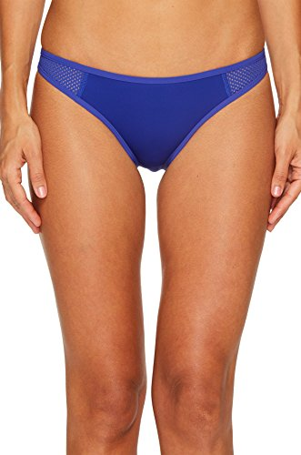 Stella McCartney Women's Neoprene & Mesh Classic Bikini Bottom Cobalt - Mccartney Stella Shop