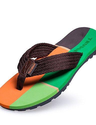 ShangYi Herren Sandaletten Herrenschuhe - Outddor / Lässig - Sandalen - Kunststoff - Schwarz / Braun / Marineblau Brown