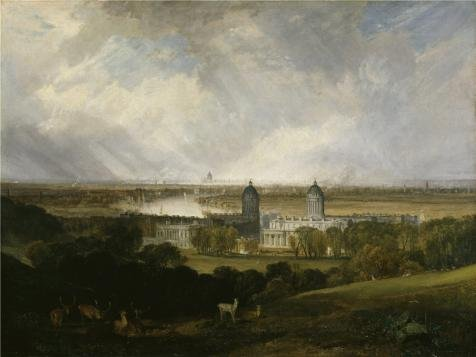 [High Quality Polyster Canvas ,the High Definition Art Decorative Prints On Canvas Of Oil Painting 'Joseph Mallord William Turner - London From Greenwich Park,1809', 20x27 Inch / 51x68 Cm Is Best For Basement Artwork And Home Gallery Art And] (Fashion Costume Museum London)