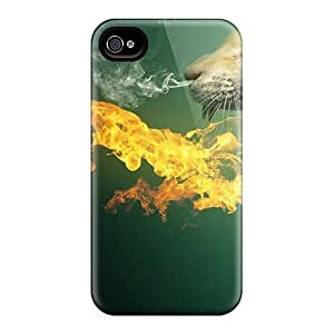 High-quality Durability Cases For Iphone 4/4s(3d Cat In Fire) wangjiang maoyi