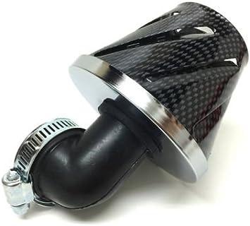 Tuning Sport Luftfilter 28mm 35mm 90 Grad Carbon Zündapp Hercules Kreidler Auto