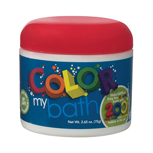 Color My Bath Fizzy, Fun, Colorful Bath, 2.65 Oz (200 Tablets) (No Color Bath Wall)