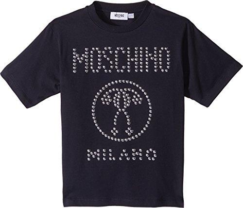 Moschino Kids Boy's Short Sleeve Stud Logo T-Shirt (Little Kids/Big Kids) Black 8 by Moschino Kids