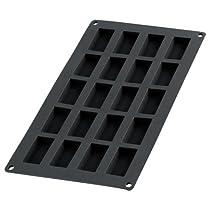 Lékué Gourmet - Molde para financieros, 20 cavidades, color negro