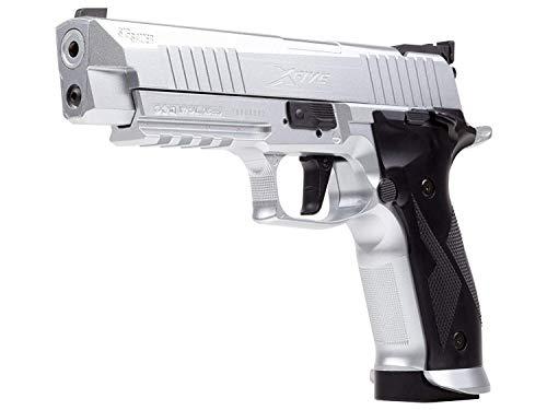 (Sig Sauer X-Five CO2 Air Pistol, 20 Round, Silver )