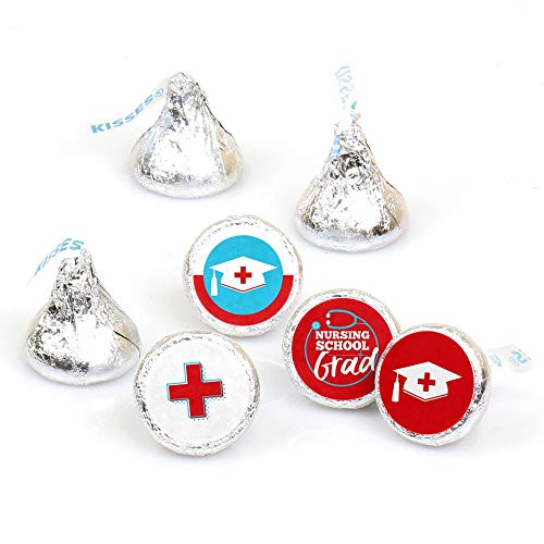 Nurse Graduation - Medical Nursing Graduation Party Round Candy Sticker Favors - Labels Fit Hershey's Kisses (1 Sheet of 108)]()