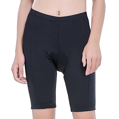 REEHUT Women's Cycling Shorts with 3D Padded - Breathable and Lightweight Bike Shorts, Bicycle Pants for Cycling Riding Biking - Black, (Bicycle Riding Suit)
