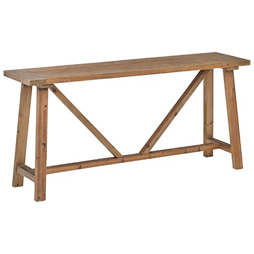 Stone & Beam Standard Reclaimed Wood Farmhouse Console Table, 70.9