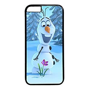 iCustomonline Cute Olaf Black Plastic Hard Back Fits Case for iPhone 6 (4.7 inch)