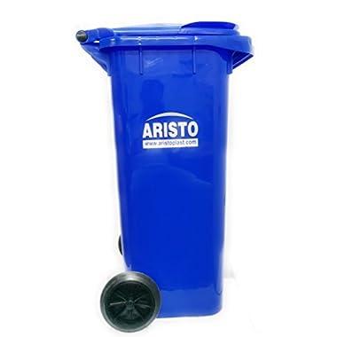 Aristo Wheel Garbage Waste Dustbin 120 Ltr (Blue) 9