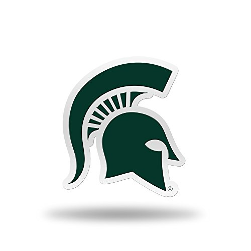 Rico Industries NCAA Michigan State Spartans Team Color Auto Emblem 3D - State Auto Michigan