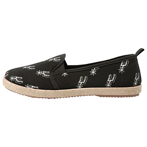 FOCO San Antonio Spurs Espadrille Canvas Shoe - Womens Medium