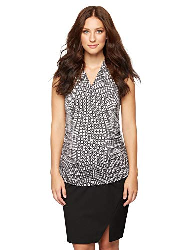 A Pea in the Pod Secret Fit Belly Maternity Pencil Skirt Black ()