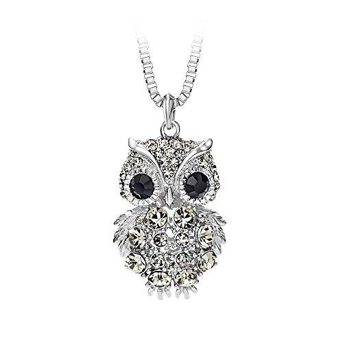 Glamorousky Pendant Black Crystal Necklace