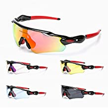 AxiEr Fashion Outdoor Sports Cycling bicycle Bike Fishing Driving Sunglasses Eyewear Glasses UV 400 Protection + 5 X Pairs of lenses