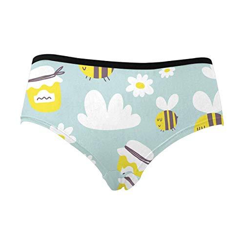 - INTERESTPRINT Women's Funny Cartoon Bee Underwear Briefs S
