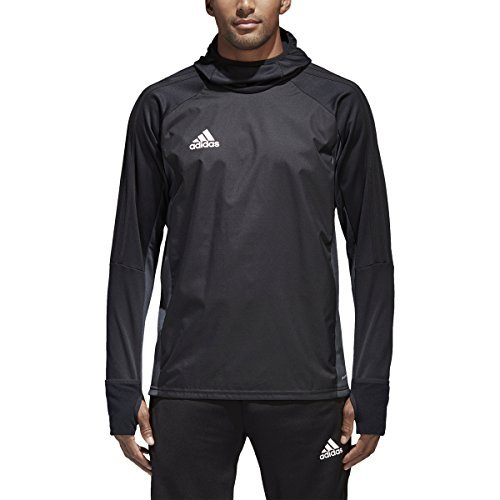 Adidas Tiro 17 Mens Soccer Warm Top XL Black-Dark Grey-White