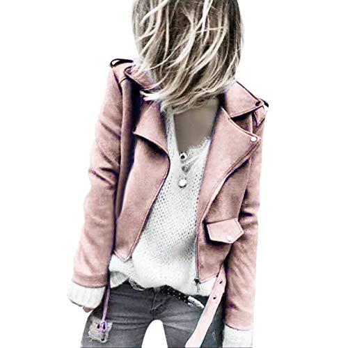 Donna Borg Parker Donna Cardigan Da Classico Rosa Giacche Cerniera Through Giacca Con Zip Invernali Leggera Cappotto Oversized Longra Corta wfxq68Eq