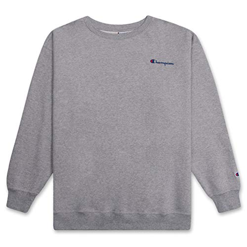 Champion Crewneck Fleece Sweatshirt for Men's Big and Tall with Script Logo