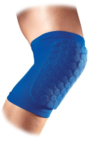 McDavid Hexforce Knee/Elbow/Shin Pads (Pair) - Blue, Medium