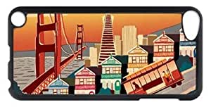 Charming Black Plastic protective Apple iPod Touch 5 Case Covered with Attractive Image San Francisco-06